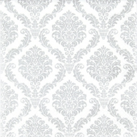 Servietten 25x25 cm - Elegant silver