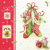 Servietten 25x25 cm - X-Mas Stockings