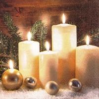 Servietten 25x25 cm - Candle Light