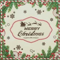 Servietten 25x25 cm - Ich wünsche dir ein frohes Weihnachtsfest.