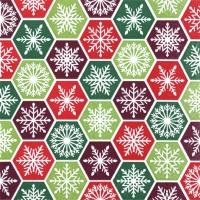 Servietten 25x25 cm - Schneeflocken-Kamm klassisch
