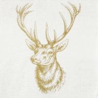 Servietten 25x25 cm - Classic Deer