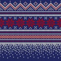 Servietten 25x25 cm - Knitted dark blue