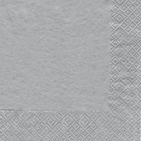 Servietten 25x25 cm - Uni silber