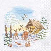 Servietten 33x33 cm - Tiere im Winter