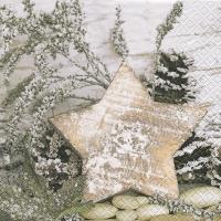 Servietten 33x33 cm - Wooden Star