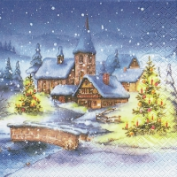 Servietten 33x33 cm - Christmas Village