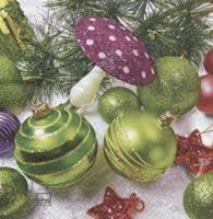 Servietten 33x33 cm - Verrückte Weihnachten