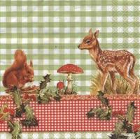 Servietten 33x33 cm - Alvin und Bambi