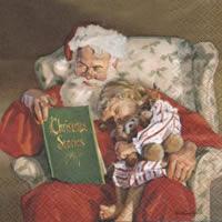 Servietten 33x33 cm - Weihnachtsmann-Nacht-Geschichte