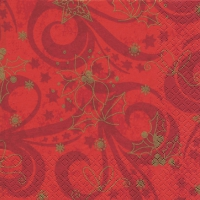 Servietten 33x33 cm - Classical Christmas red