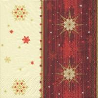 Servietten 33x33 cm - Estrella bordeaux