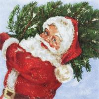 Servietten 33x33 cm - Santa with his Tree