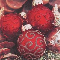 Servietten 33x33 cm - Classy Christmas Balls