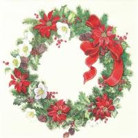 Servietten 33x33 cm - Christmas Wreath
