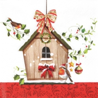 Servietten 33x33 cm - Winter Bird House