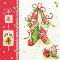Servietten 33x33 cm - X-Mas Stockings