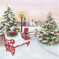 Servietten 33x33 cm - Christmas Park
