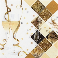 Servietten 33x33 cm - New Year Celebration