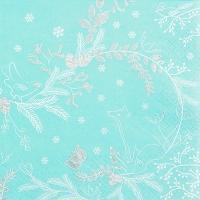 Servietten 33x33 cm - Winter Woods blue