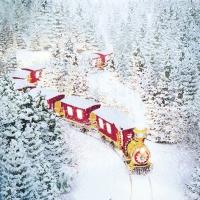 Servietten 33x33 cm - Polar Express
