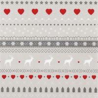 Servietten 33x33 cm - Winter Pattern taupe