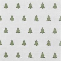Servietten 33x33 cm - Leinenbäume grün