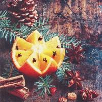 Servietten 33x33 cm - Christmas Spices