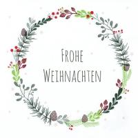 Servietten 33x33 cm - Lucia: Frohe Weihnacht