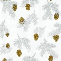 Servietten 33x33 cm - Pine Cones white