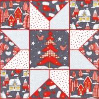 Servietten 33x33 cm - Christmas Patchwork