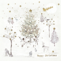 Servietten 33x33 cm - Happy Christmas