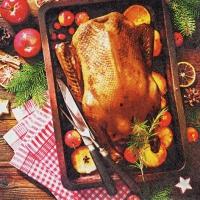 Servietten 33x33 cm - Holiday Roast