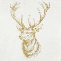 Servietten 33x33 cm - Classic Deer