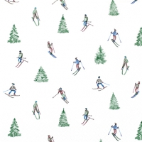 Servietten 33x33 cm - Skiing