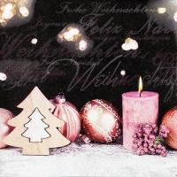 Servietten 33x33 cm - Christmas Romance