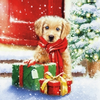 Servietten 33x33 cm - Little Puppy