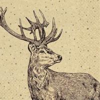 Servietten 33x33 cm - Proud Deer