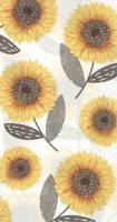 Buffet Servietten - Urban Sunflower grey