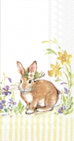 Buffet Servietten - LOVELY BUNNY yellow