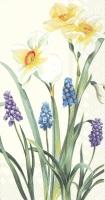 Buffet Servietten - SPRING FLOWERS cream