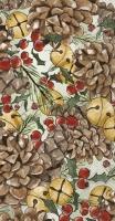 Buffet Servietten - PINECONES AND BELLS