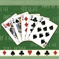 Servietten 25x25 cm - Kartenspiel