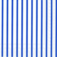 Servietten 25x25 cm - STRIPES AGAIN white dark blue