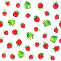 Servietten 25x25 cm - Erdbeeren