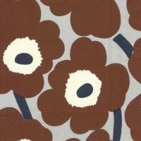 Servietten 25x25 cm - UNIKKO brown grey