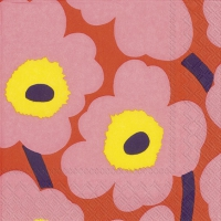Servietten 25x25 cm - UNIKKO rose orange