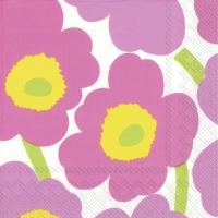 Servietten 25x25 cm - UNIKKO light pink
