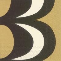 Servietten 25x25 cm - KAIVO black cream