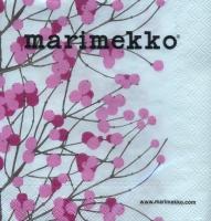 Servietten 25x25 cm - LUMIMARJA weiß rosa